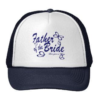 Padre de la mariposa de la novia gorras de camionero