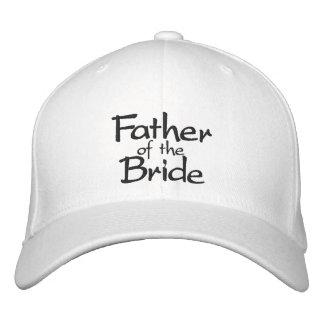 Padre de la novia elegante gorros bordados