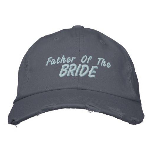 Padre de la novia gorras bordadas
