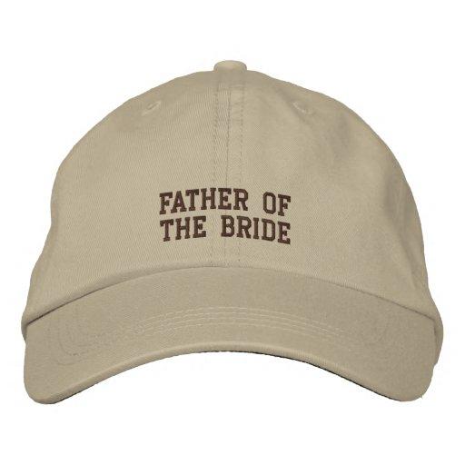¡Padre de la novia! Gorra Bordada