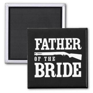 Padre de la novia imán cuadrado
