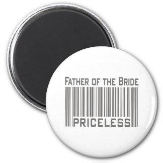 Padre de la novia inestimable imán redondo 5 cm