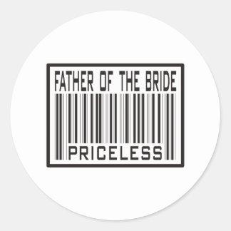 Padre de la novia inestimable etiquetas