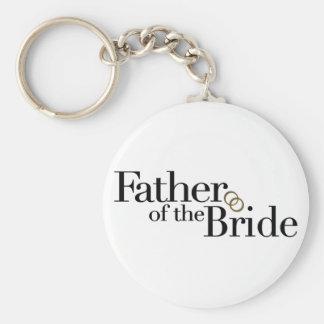 Padre de la novia llavero redondo tipo pin