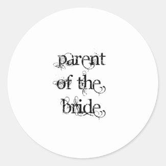 Padre de la novia etiqueta redonda
