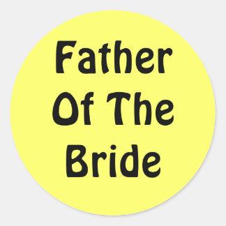 Padre de la novia pegatinas