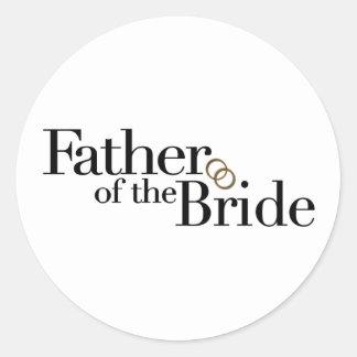 Padre de la novia pegatina redonda