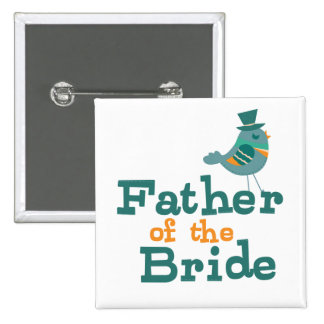 Padre de la novia pin cuadrada 5 cm