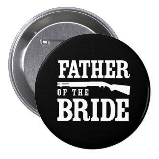 Padre de la novia pin redondo de 3 pulgadas