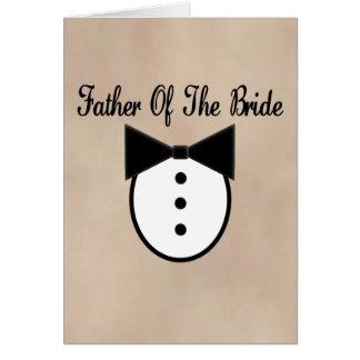 Padre de la novia tarjeta de felicitación