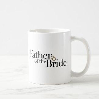 Padre de la novia taza básica blanca