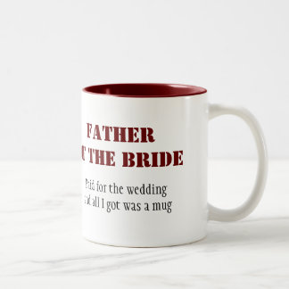Padre de la novia taza de dos tonos