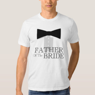 Padre de la pajarita de la novia playeras