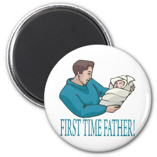 Padre de la primera vez imán redondo 5 cm