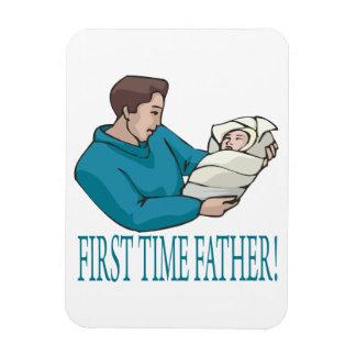 Padre de la primera vez imán rectangular