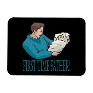 Padre de la primera vez imanes de vinilo