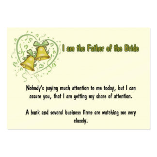 Padre de la tarjeta de visita de la novia