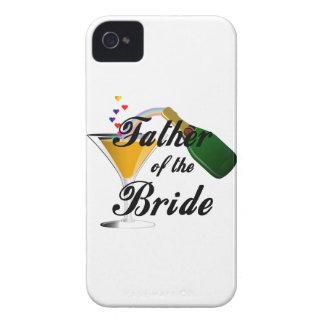 Padre de la tostada de Champán de la novia Case-Mate iPhone 4 Protector