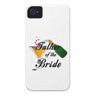 Padre de la tostada de Champán de la novia iPhone 4 Cárcasas