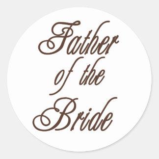 Padre de los marrones con clase de la novia pegatina