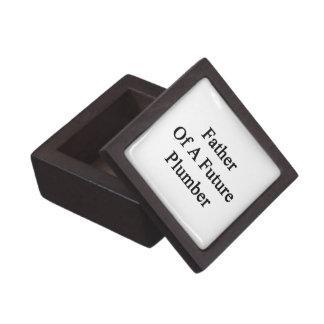 Padre de un fontanero futuro caja de regalo de calidad