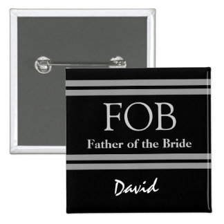 Padre del botón blanco y negro del boda de la