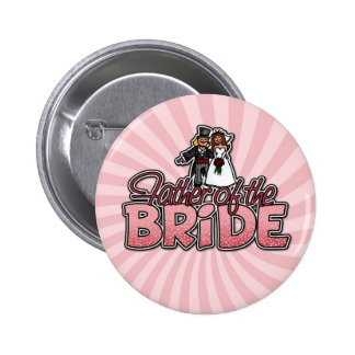 padre del botón de la novia pin redondo de 2 pulgadas
