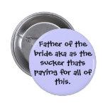 Padre del botón de la novia pins