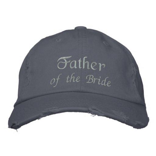 Padre del casquillo azul bordado novia de la bola  gorras bordadas