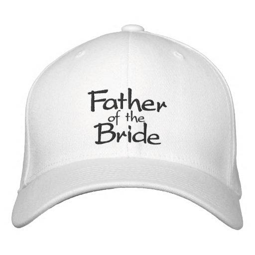 Padre del casquillo bordado elegante de la novia gorras de beisbol bordadas