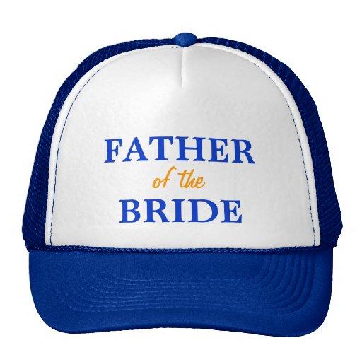 Padre del casquillo de la novia gorro de camionero