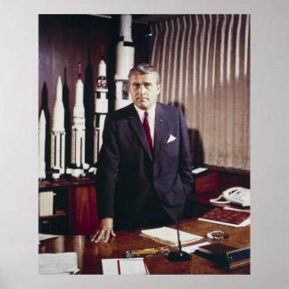 Padre del doctor Wernher von Braun de la ingenierí Póster