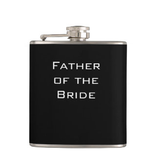 Padre del frasco del negro de la novia petaca