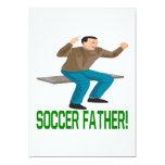 Padre del fútbol invitación 12,7 x 17,8 cm