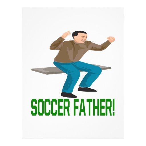 Padre del fútbol tarjeta publicitaria