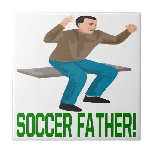 Padre del fútbol teja cerámica