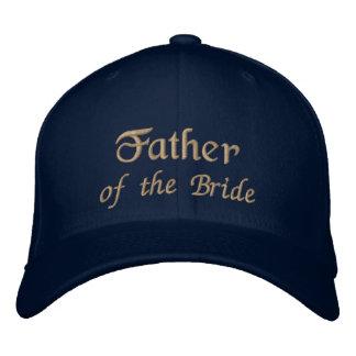 Padre del gorra de la novia gorras bordadas