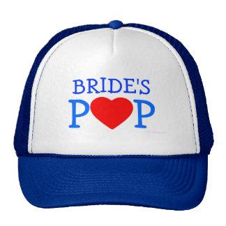 Padre del gorra del ensayo de la novia