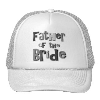 Padre del gris de la novia gorros bordados