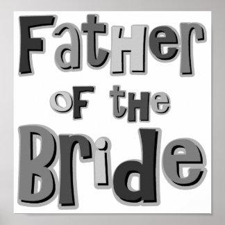 Padre del gris de la novia impresiones