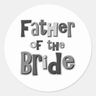 Padre del gris de la novia pegatinas