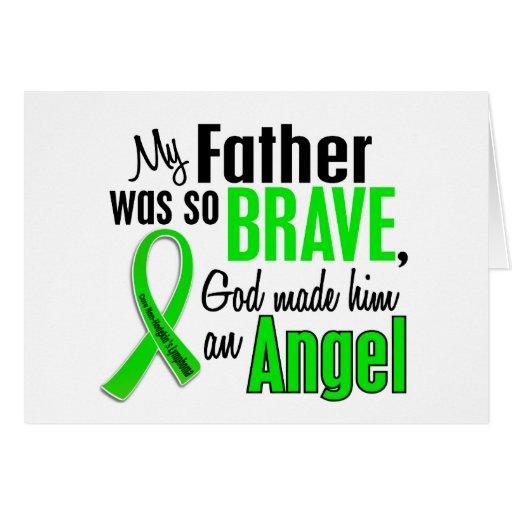 Padre del linfoma Non-Hodgkin del ángel 1 Felicitación