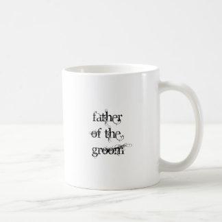 Padre del novio taza básica blanca