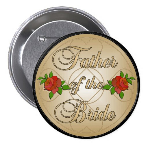 Padre del oro del botón de la novia (mando) pin