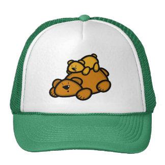 Padre del oso y gorra lindos de Cub