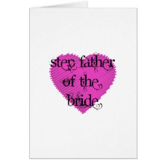 Padre del paso de la novia tarjetón