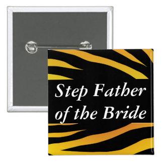 Padre del paso de las novias pin cuadrado