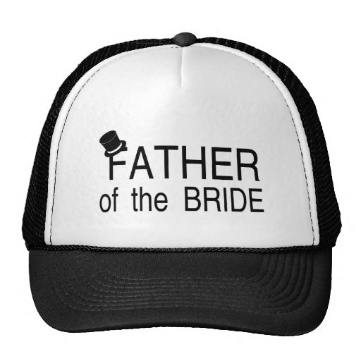 Padre del sombrero de copa de la novia gorra