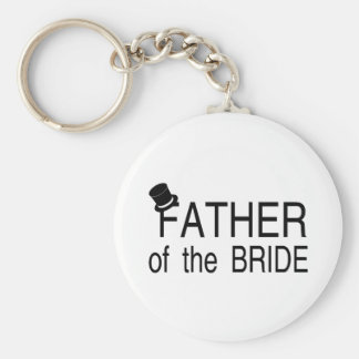 Padre del sombrero de copa de la novia llavero personalizado