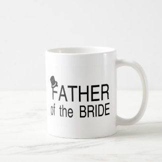 Padre del sombrero de copa de la novia tazas